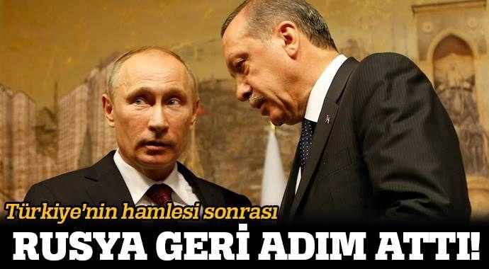 Türkiye'nin hamlesi Rusya'ya geri adım attırdı