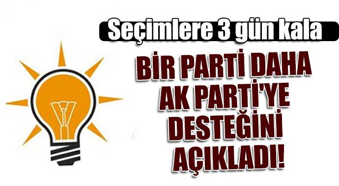 Bir parti daha AK Parti'ye desteğini açıkladı!