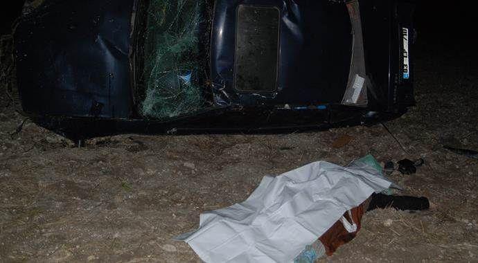 Kütahya'da otomobil devrildi: 1 ölü, 5 yaralı
