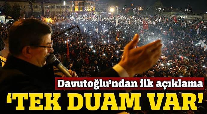 Ahmet Davutoğlu'ndan ilk açıklama