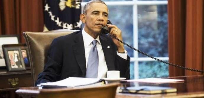Obama, Başbakan Davutoğlu'nu aradı