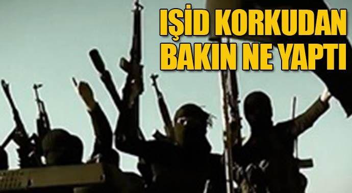 IŞİD korkudan bakın ne yaptı?