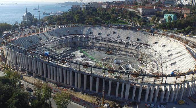 Vodafone Arena'nın çatısında sona doğru!