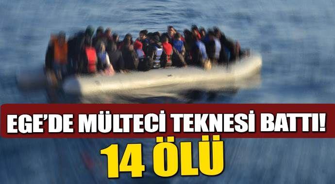 Çanakkale'de mülteci teknesi battı: 14 ölü