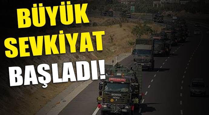 Gaziantep'ten büyük askeri sevkiyat