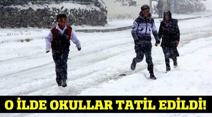 Ardahan'da okullar kar sebebi ile tatil edildi!