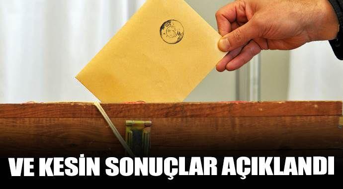 1 Kasım seçimlerinin kesin sonuçları açıklandı