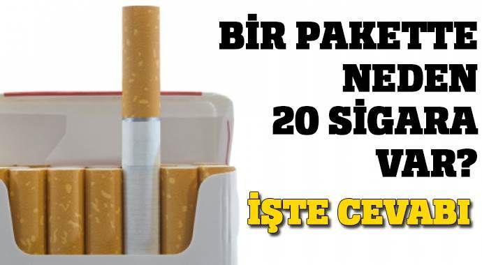 Bir pakette 20 sigara olması tesadüf değil