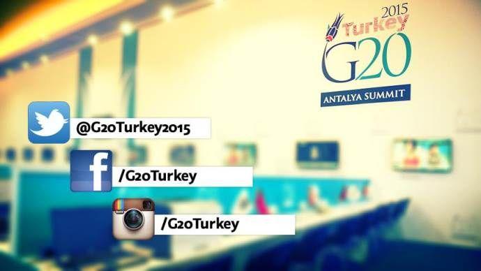 G20 Zirvesi için sosyal medya hesapları hazır