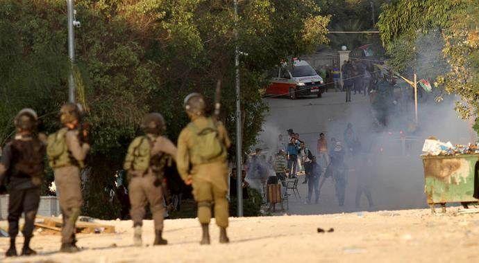 Batı Şeria yine karıştı, çok sayıda Filistinli yaralandı