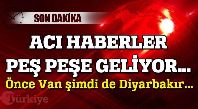 Acı haberler peşe peşe geliyor, Diyarbakır'da 3 şehit var...