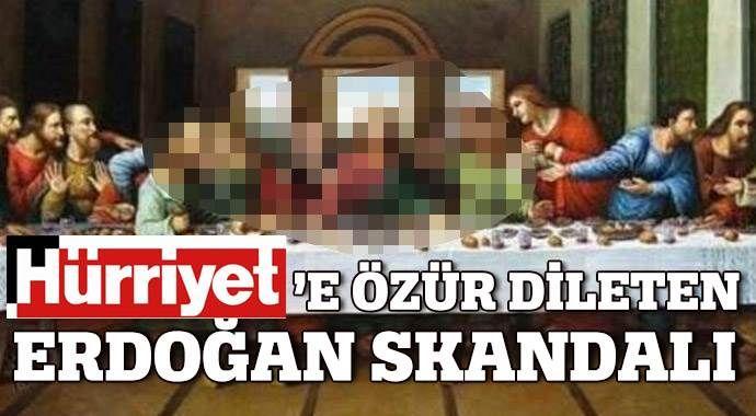 Hürriyet Erdoğan'dan özür diledi