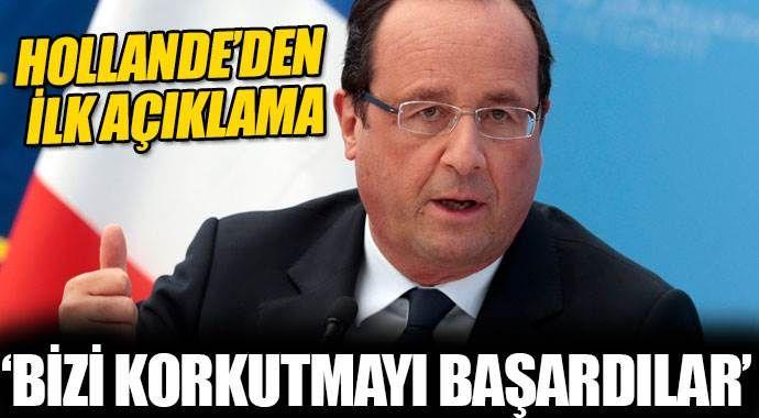 Hollande'den ilk açıklama: OHAL ilan ediyoruz