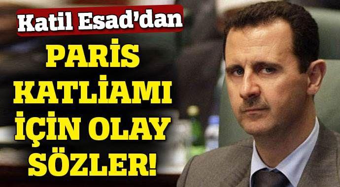 Yarım milyon vatandaşını katleden Esad, Fransa'yı Suriye'ye benzetti