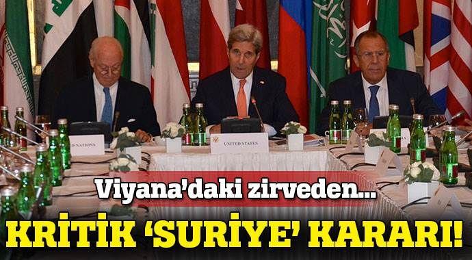 Viyana'daki zirveden kritik Suriye kararı