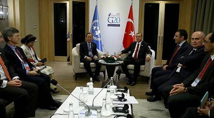 Cumhurbaşkanı Erdoğan ile Ban Ki Mun görüştü