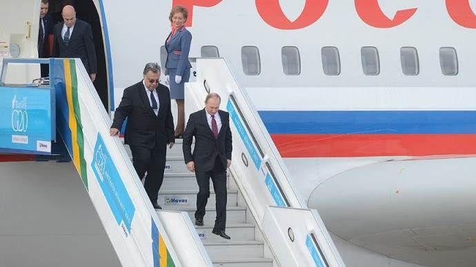 Rusya Devlet Başkanı Putin G20 zirvesi için Antalya'da