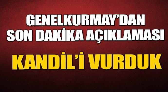TSK, PKK'nın yuvasını yerle bir etti!
