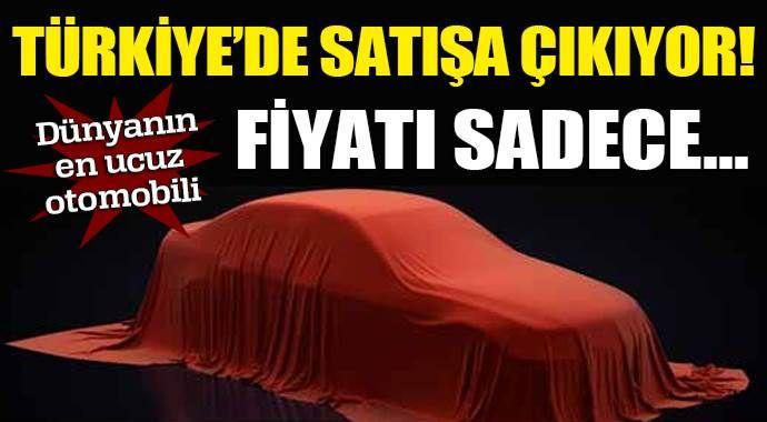 15 bin TL'lik otomobil Türkiye'de satışa çıkıyor