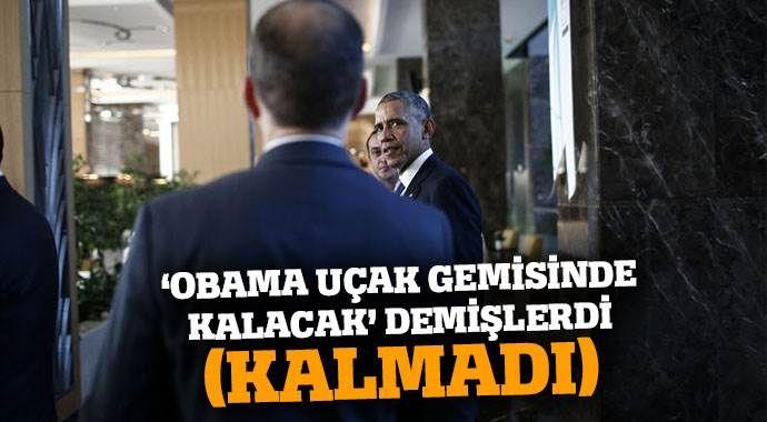 'Obama ABD gemisinde kalacak' demişlerdi! İşte cevap