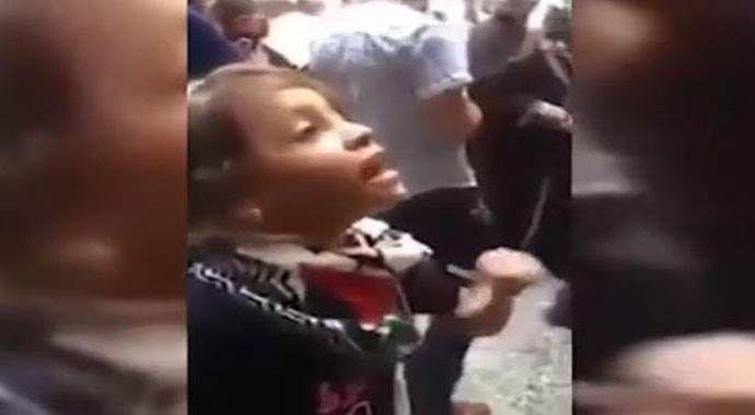 Filistinli kız İsrail askerlerine meydan okudu