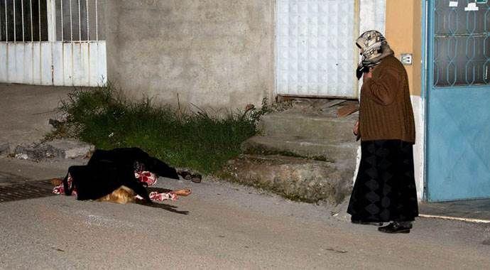 Genç kadın evinin önünde bu halde bulundu