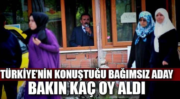 Bursa'nın bağımsız adayı kaç oy aldı?