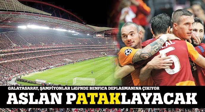 Galatasaray, Şampiyonlar Ligi'nde Benfica deplasmanına çıkıyor