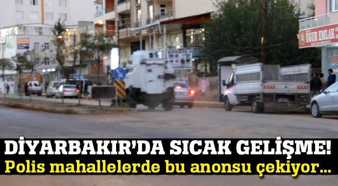 Diyarbakır Silvan'da polis bu anonsu geçiyor...