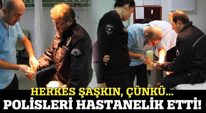 2 polisi de ısırarak hastanelik etti!
