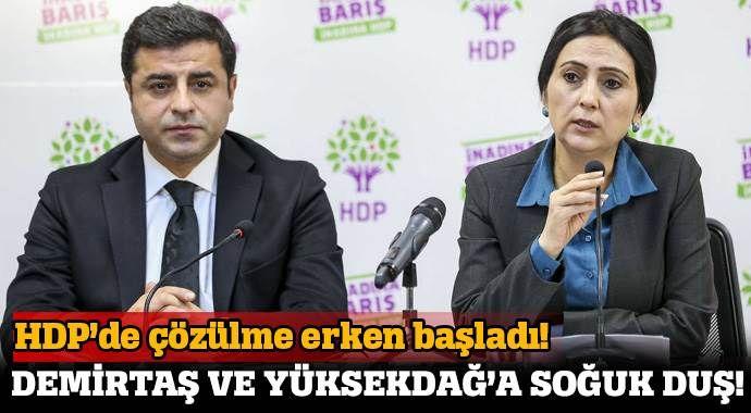 Demirtaş ve Yüksekdağ'a şok! HDP'de çözülme başladı