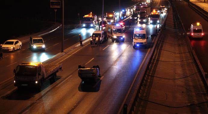 İstanbul'da feci kaza! Metrelerce sürüklendi