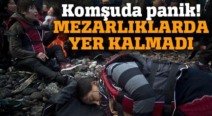 'Mezarlıklarda mültecileri defnedecek yer kalmadı'