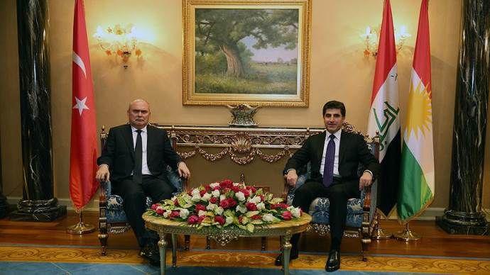 Dışişleri Bakanı Sinirlioğlu, Neçirvan Barzani ile görüştü