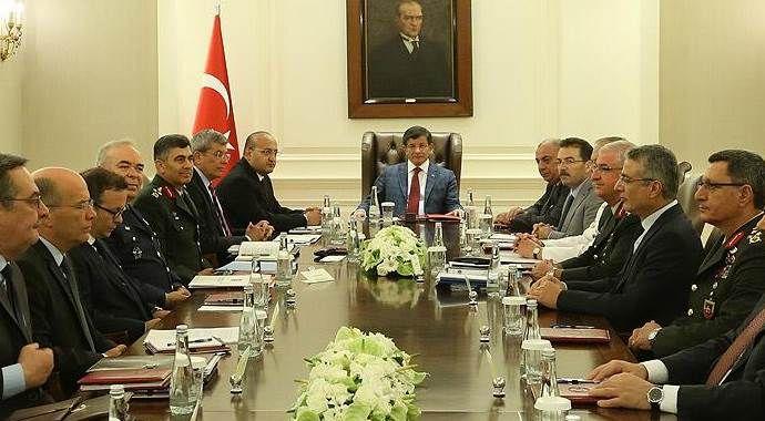 Başbakanlık'ta Güvenlik Toplantısı başladı