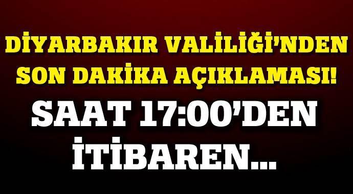 Diyarbakır'ın Hani ve Lice ilçelerinde sokağa çıkma yasağı ilan edildi