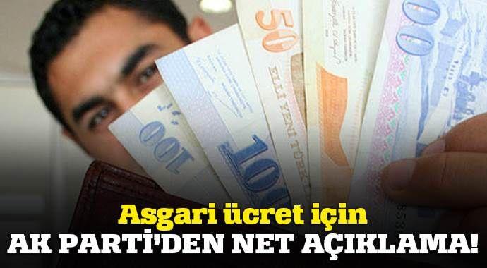 Asgari ücret için AK Parti'den net açıklama