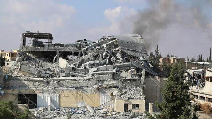 Rus savaş uçakları Suriye'de hastane ve ilaç fabrikasını vurdu