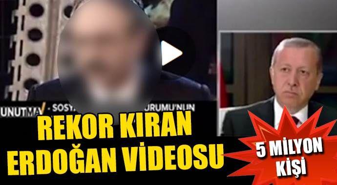 Paylaştığı Erdoğan videosu rekor kırdı