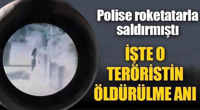 Saldırı hazırlığındaki teröristin öldürüldüğü an
