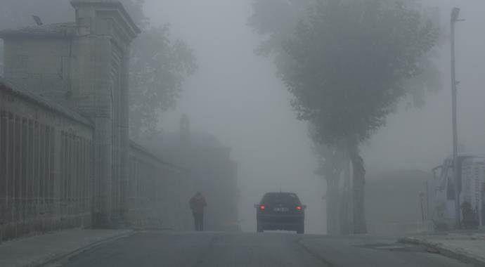 Edirne'yi sis bastı