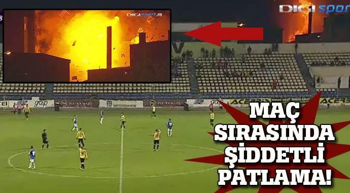 Maç sırasında şiddetli patlama !
