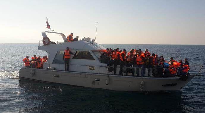 Lüks yatta 131 kaçak yakalandı!