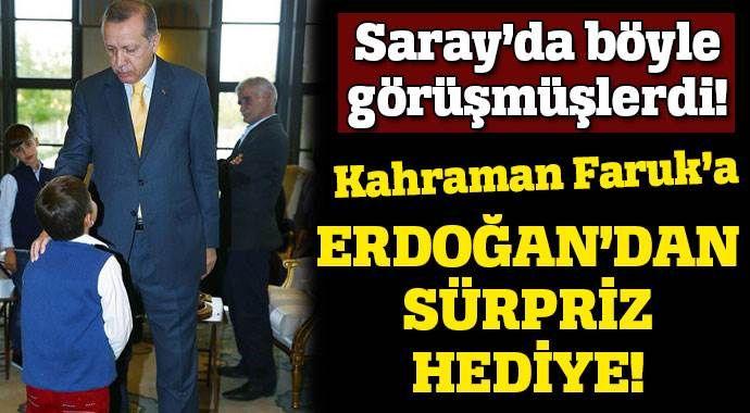Cumhurbaşkanı Erdoğan Ömer Faruk'a köpek hediye etti