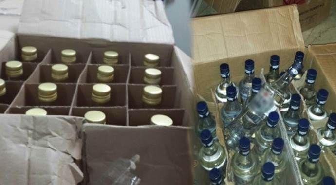 103 şişe sahte içki ele geçirildi
