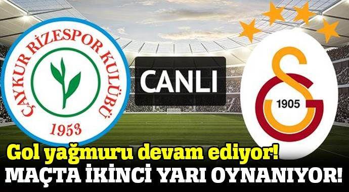Çaykur Rizespor 4-3 Galatasaray maçı özeti ve Golleri (RİZESPOR, GS MAÇI SKORU, GENİŞ ÖZETİ)