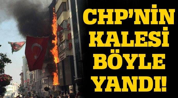CHP Karşıyaka İlçe Başkanlığı'nda yangın