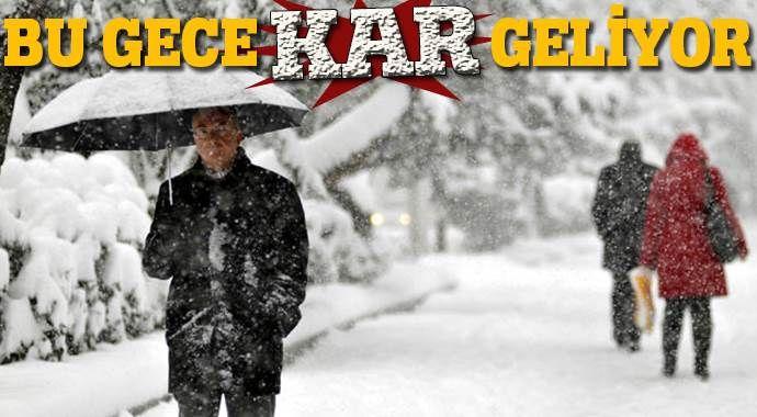 İki bölge için uyarı: Bu gece kar geliyor!