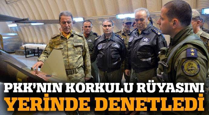 Akar, PKK'nın korkulu rüyasını yerinde denetledi