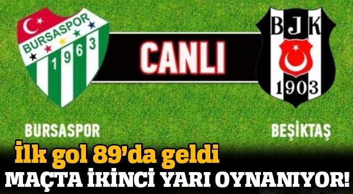 Bursaspor 0-1 Beşiktaş maçı Özeti ve Golleri (BURSA, BJK MAÇI SKORU, GENİŞ ÖZETİ)